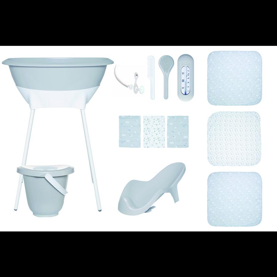Luma® Babycare Badeset mit Muslin Tücher in Light Grey