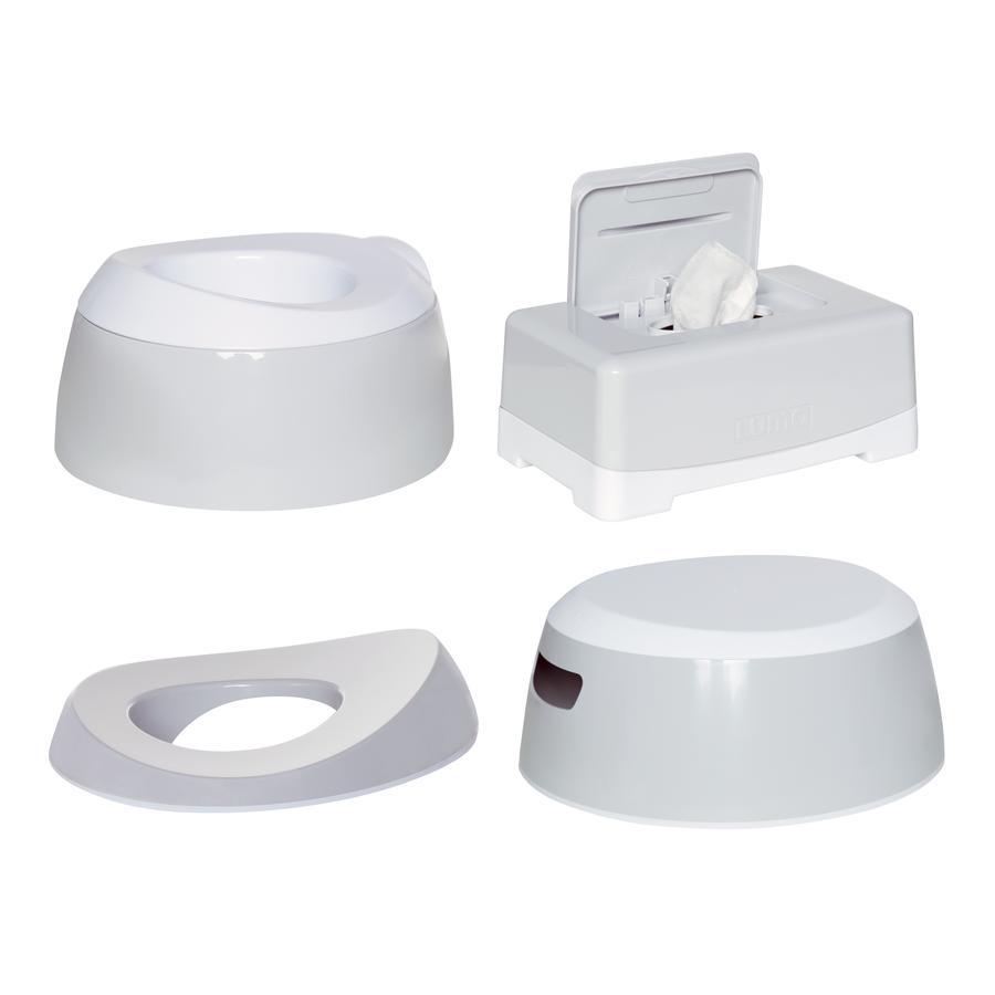 Luma ® Baby care  Zestaw do nauki korzystania z toalety Light Grey