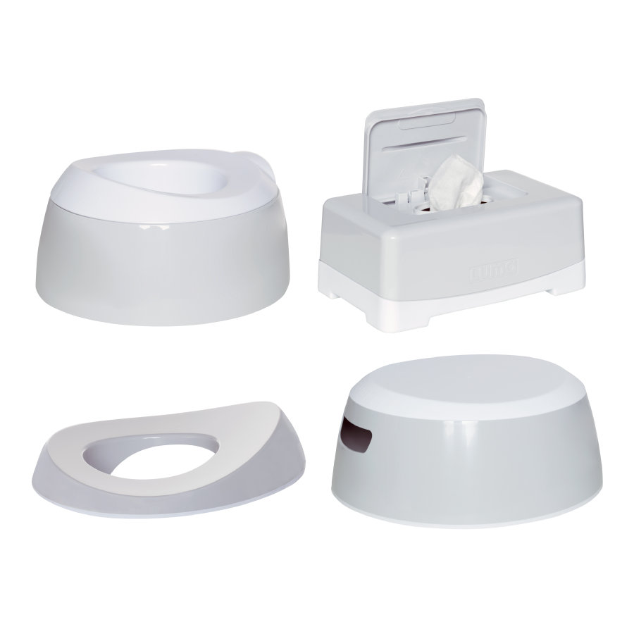 Luma® Babycare Kit réducteur de toilettes et pot enfant Light Grey