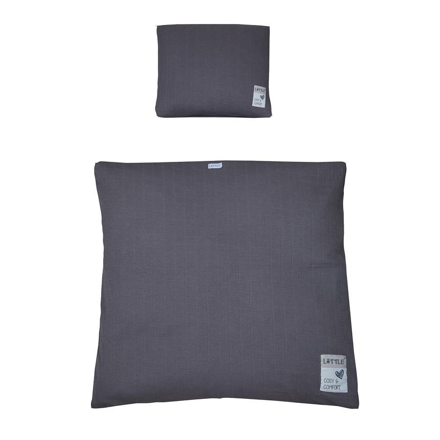 LITTLE vagga sänglinne kuber ny antracit 80 x 80 cm