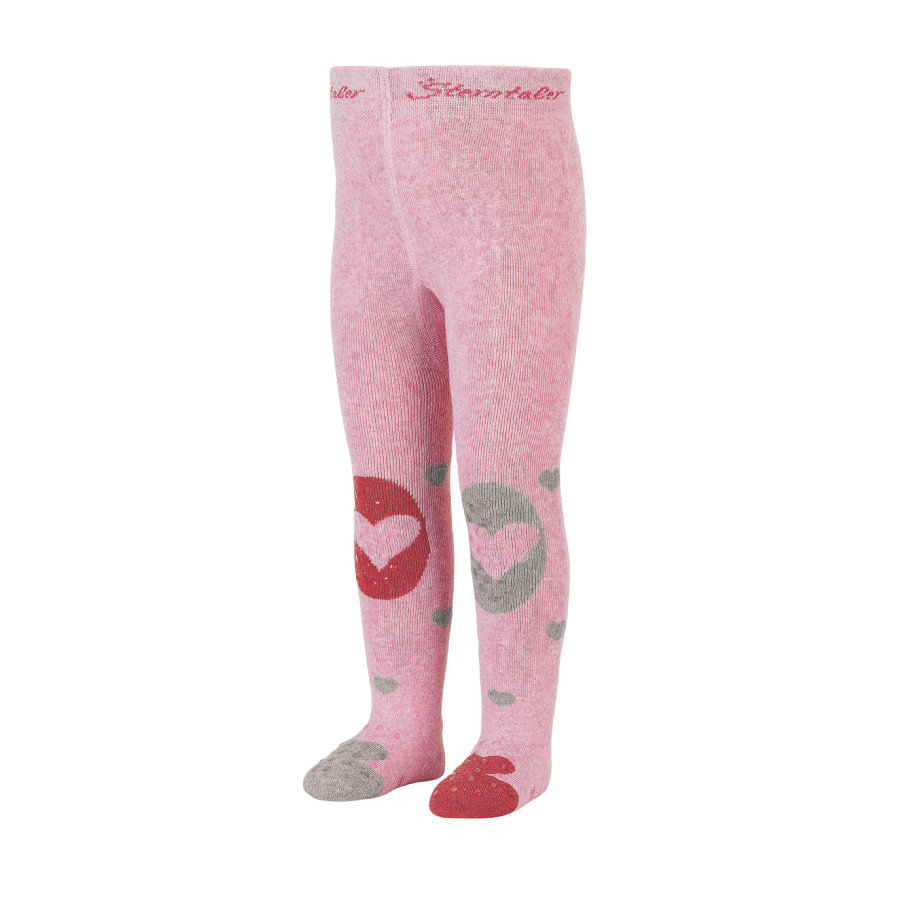 Sterntaler Collant striscianti a cuore rosa melange