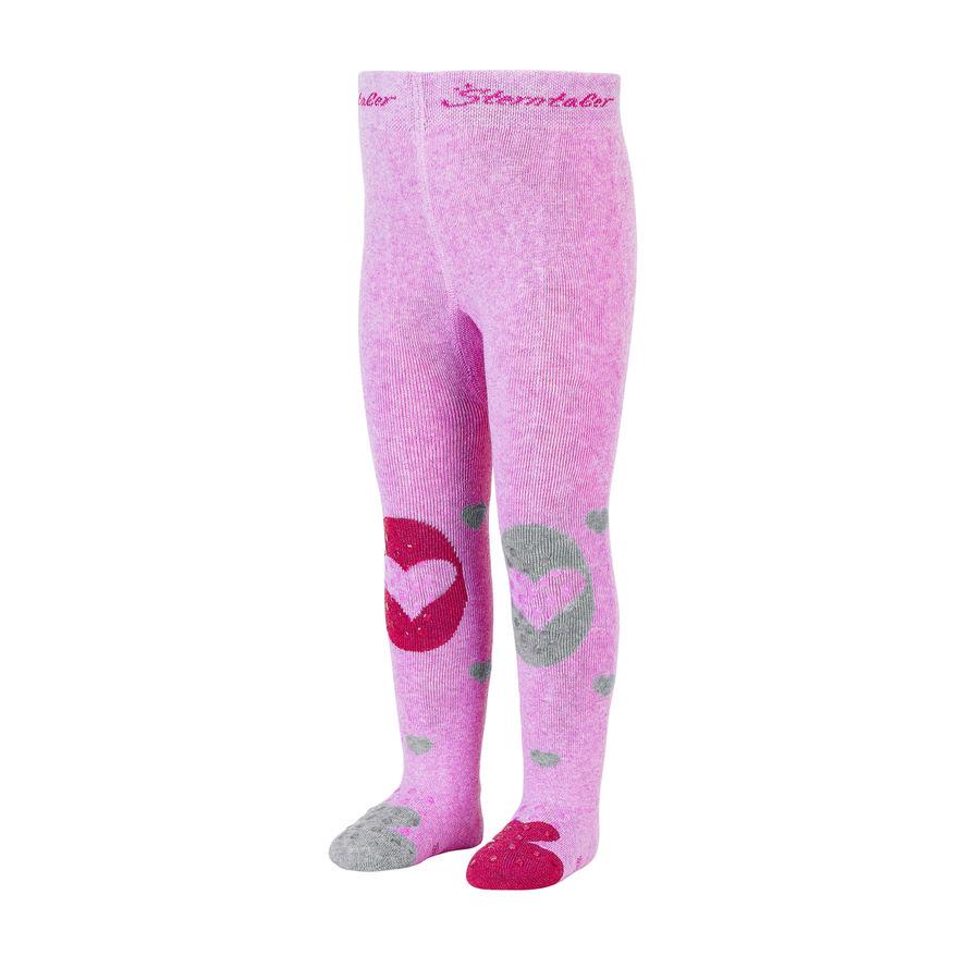 Sterntaler punčocháče srdce růžová melanž
