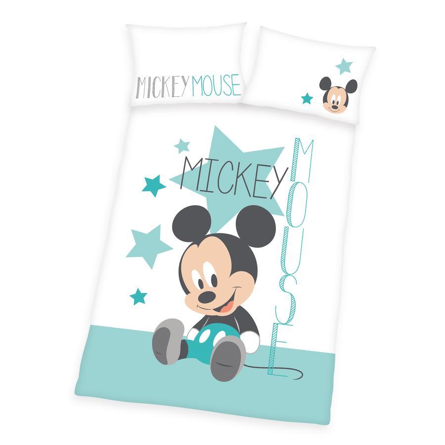 HERDING sengetøy Disney's Mickey Mouse turkis 100 x 135 cm