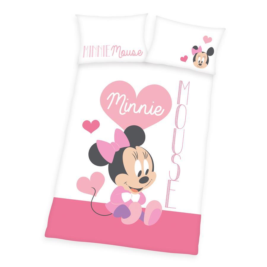 HERDING Parure de lit enfant Minnie Disney rose 100x135 cm