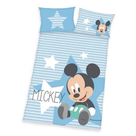 HERDING bedlinnen Disney's Mikey Mouse blauw 100 x 135 cm