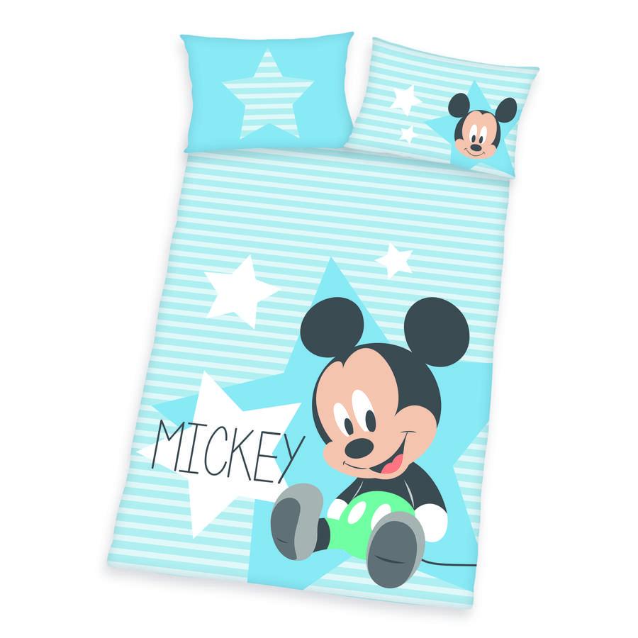 HERDING Pościel dziecięca Disney Myszka Miki niebieska 100 x 135 cm