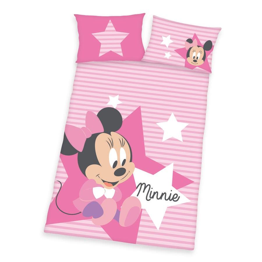 HERDING Pościel dziecięca Disney Minnie Mouse różowy 100 x 135 cm