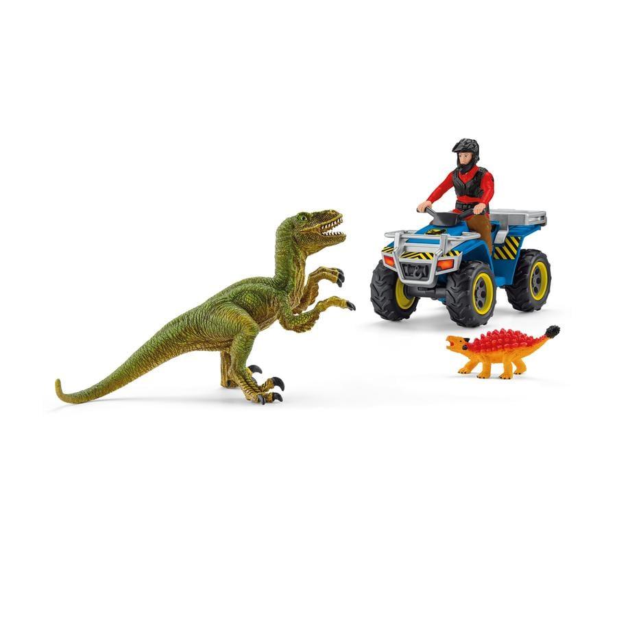 Schleich Spielset Flucht auf Quad vor Velociraptor 41466