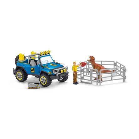 Schleich Spielset Geländewagen mit Dino-Außenposten 41464