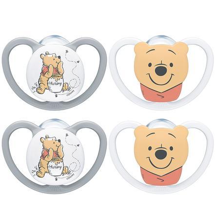 NUK Schnuller Space Disney Winnie The Pooh  Gr. 1, 0 - 6 Monate 4 Stück