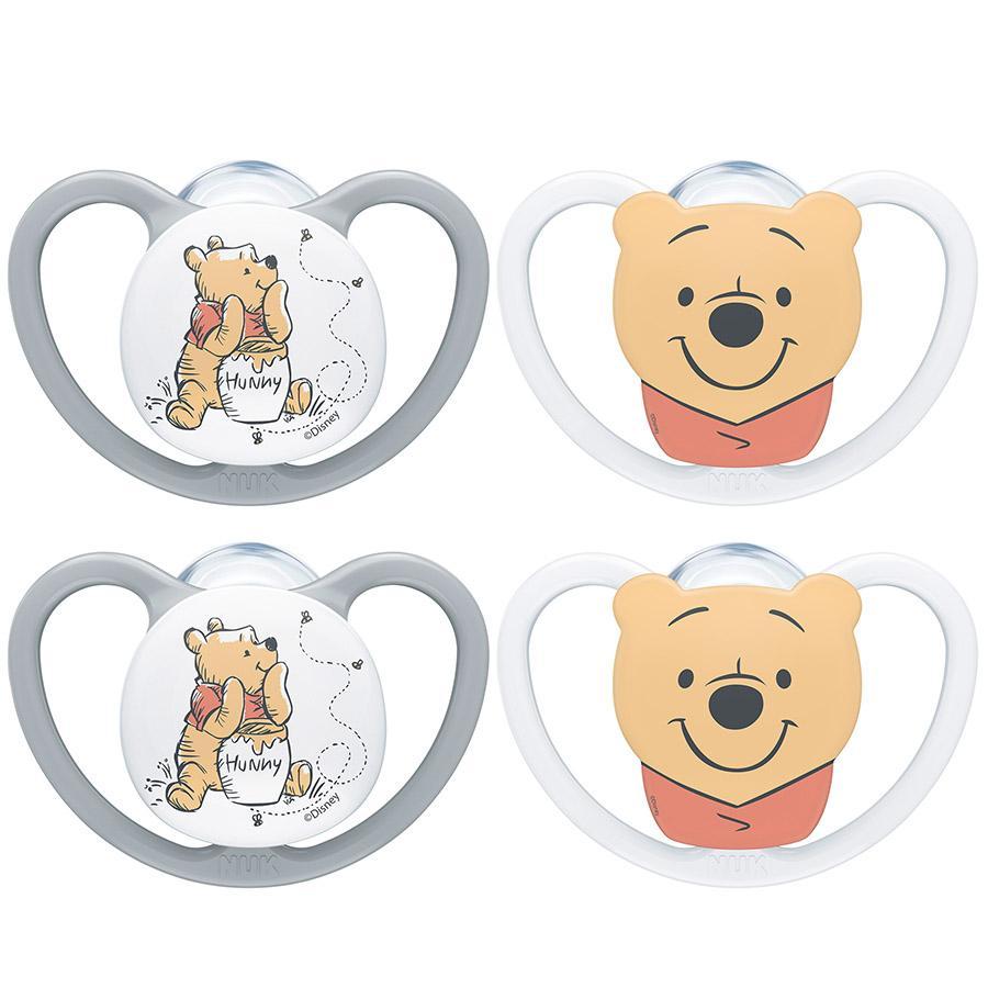 NUK Maniquíes Space Disney Winnie The Pooh Gr. 1, 0 - 6 meses 4 piezas