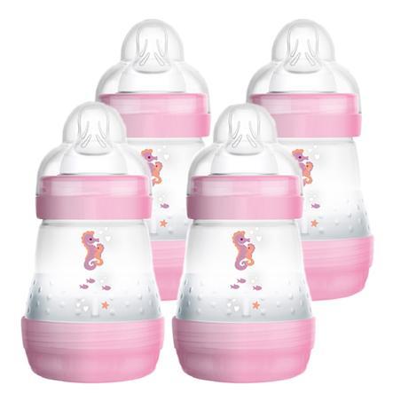 MAM Dětská láhev Easy Start Anti-Colic 160ml dívka 4 kusy