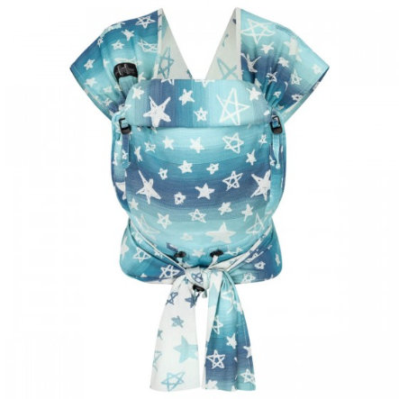 Hoppediz Babytrage Hop-Tye Buckle Jacquard Singapur Blue