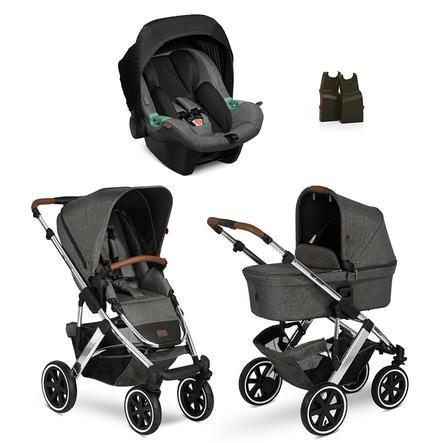 ABC DESIGN  Carro de bebé combi 3 en 1 Salsa 4 Air Diamond Special Edition Asphalt
