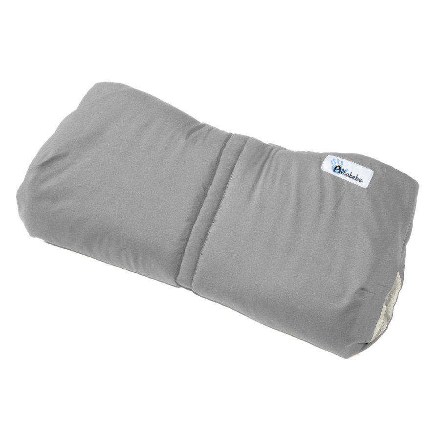 Altabebe Protège-mains pour poussette Active, gris clair/whitewash