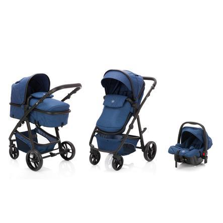 fill Kinderwagen Set Panther Elite 3 in 1 Blau Melange