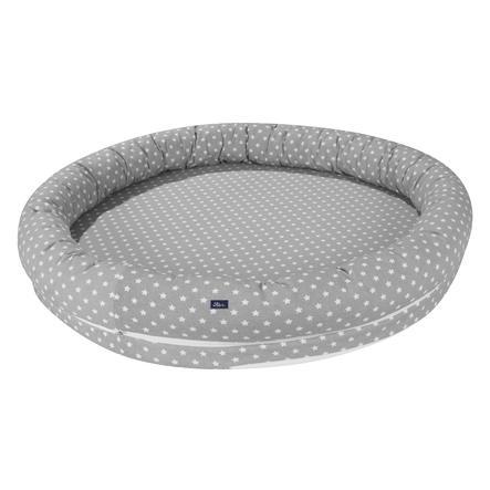 Alvi® Schlummer-Nestchen XL Stars silber mit Tasche