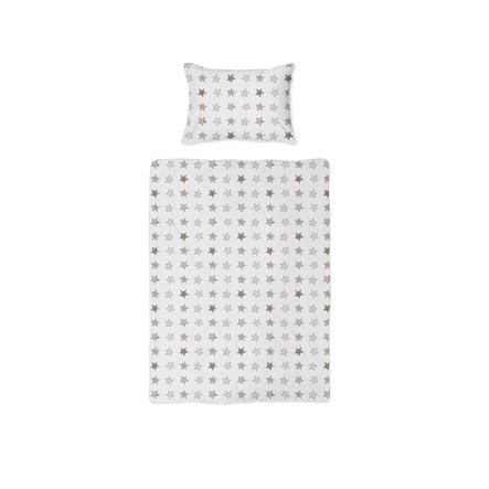 joyfill Bedlinnen Rustiek Stars Beige 100x135 cm
