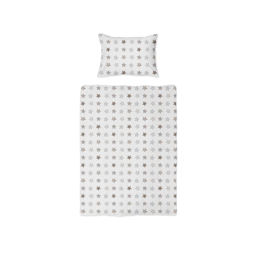 joyfill Parure de lit enfant Rustic Stars beige 100x135 cm