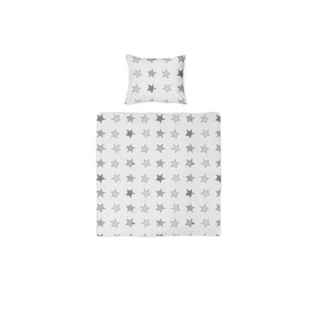 joyfill Parure de lit enfant Rustic Stars beige 80x80 cm