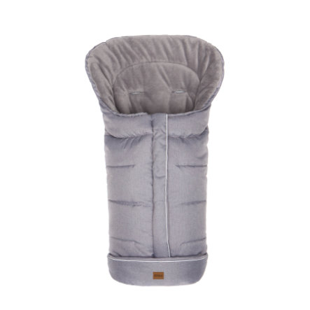 fillikid Chancelière pour poussette universelle hiver K2 soft éponge mélange gris clair