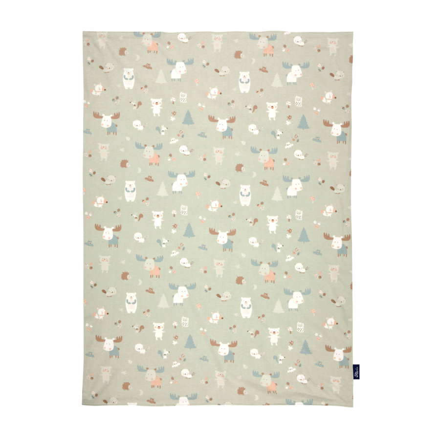 Alvi ® baby blanket jersey baby Forest 75 x 100 cm