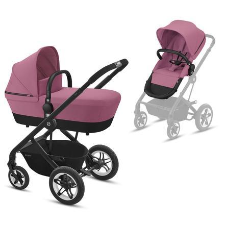 cybex GOLD Kinderwagen Talos S 2 in 1 Black Magnolia Pink
