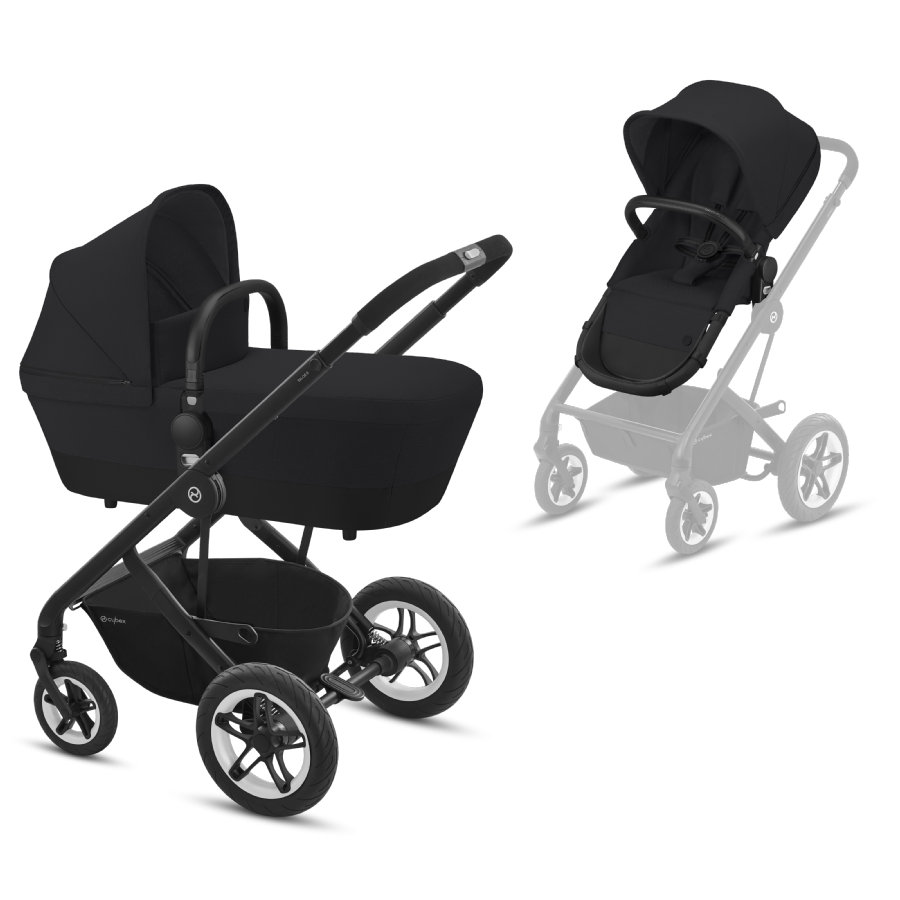 cybex GOLD Kinderwagen Talos S 2 in 1 Black Deep Black