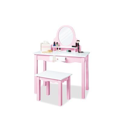 Pinolino Kinderschminktisch Jasmin inkl. Hocker, rosa
