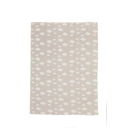 LITTLE Flanell Fleece Decke Wolke taupe 75 cm x 100 cm