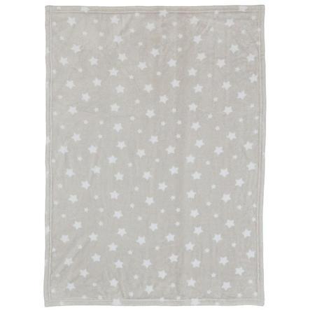 LITTLE Flanell Fleece Decke Sterne grau 75 cm x 100 cm