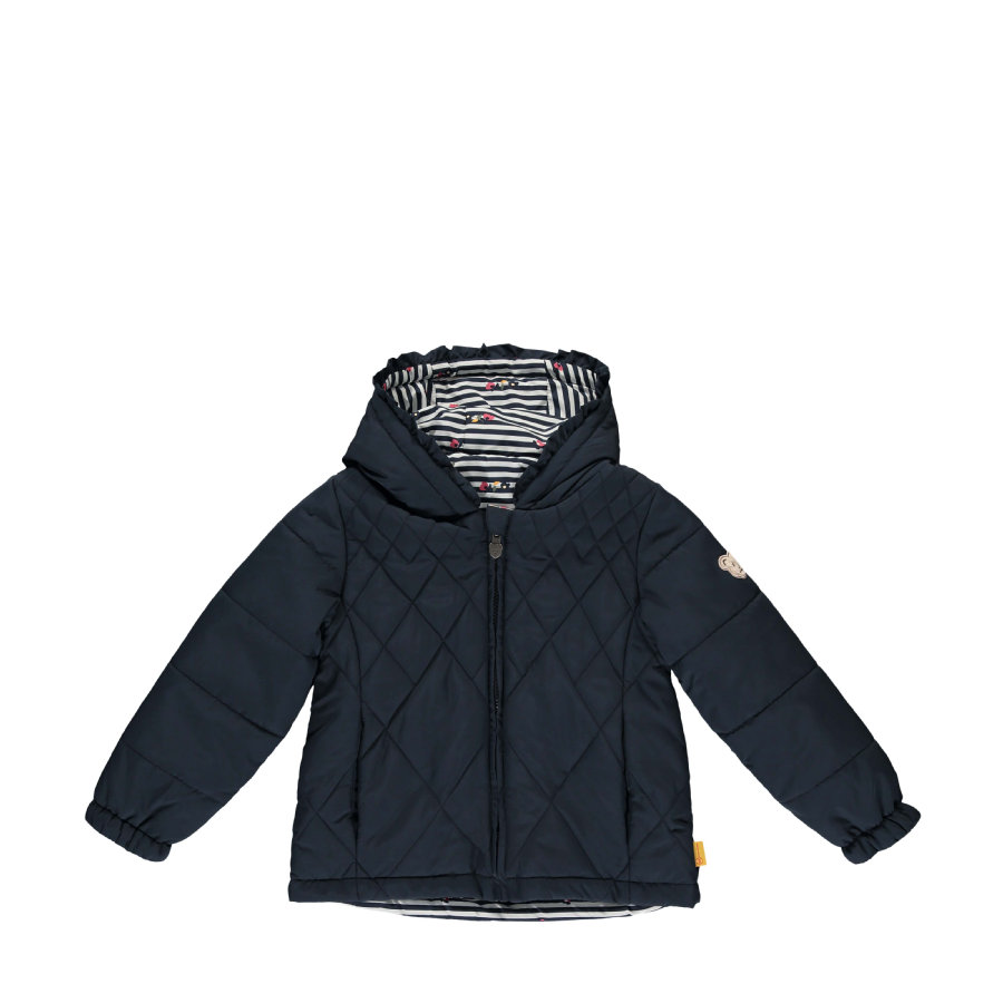 Steiff Girls Wendejacke, navy