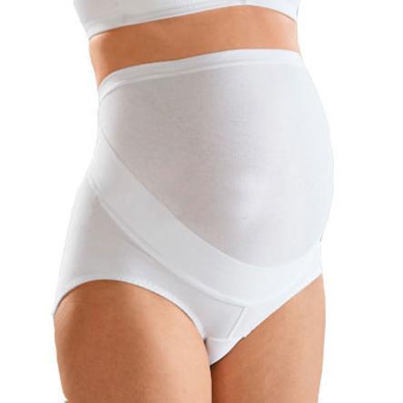 NATURANA Majteczki ciążowe z pasem na brzuch kolor biały (80485)