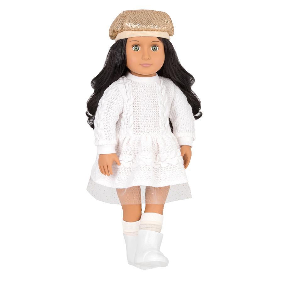 Our Generation - Puppe Talita im Strickkleid und Glitzerhut 46 cm