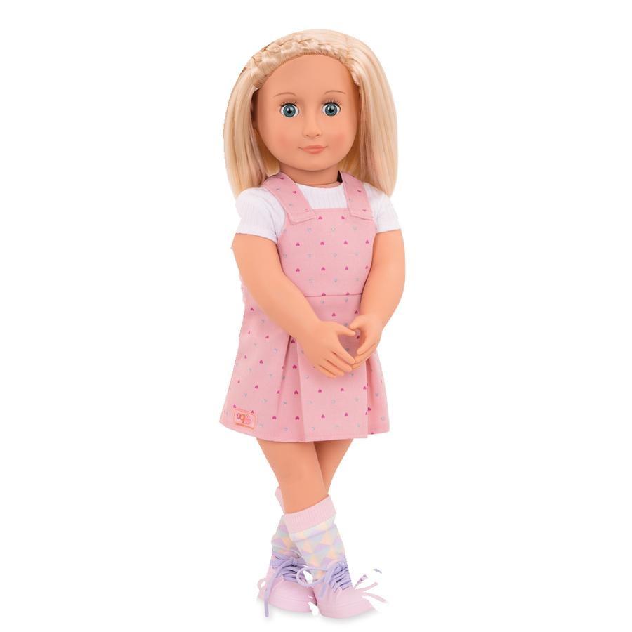 Our Generation panenka Naty s růžovými šaty 46 cm