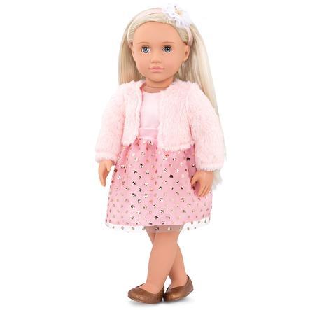 Our Generation - Puppe Millie mit rosa Kleid und Felljacke  46 cm