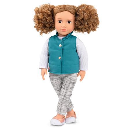 Our Generation - Poupée Mila à boucles et veste turquoise 46 cm