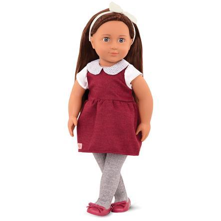 Our Generation - Puppe Milana im Twill-Kleid  46 cm