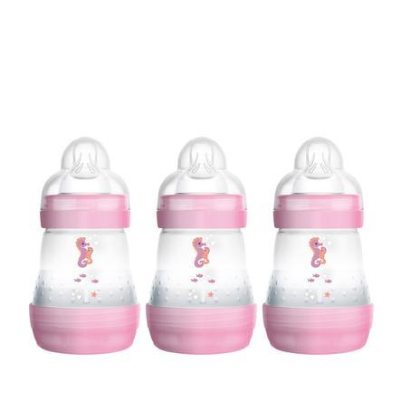 MAM Dětská láhev Easy Start Anti-Colic 160ml 3 balení dívka