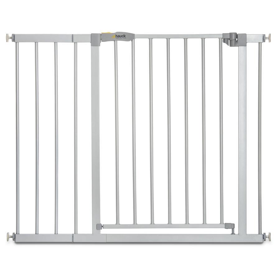 hauck Türschutzgitter Stop N Safe 2 Silber inklusive 21 cm Verlängerung