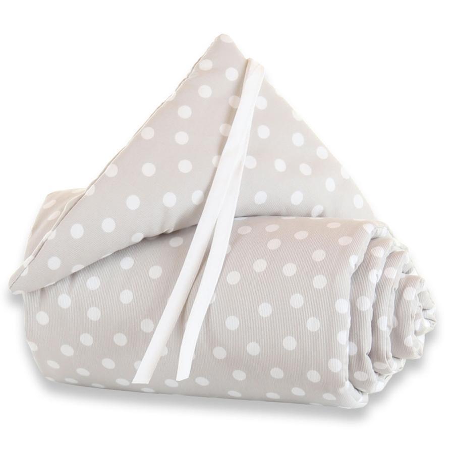 TOBI BABYBAY Tour de lit Original à pois blanc