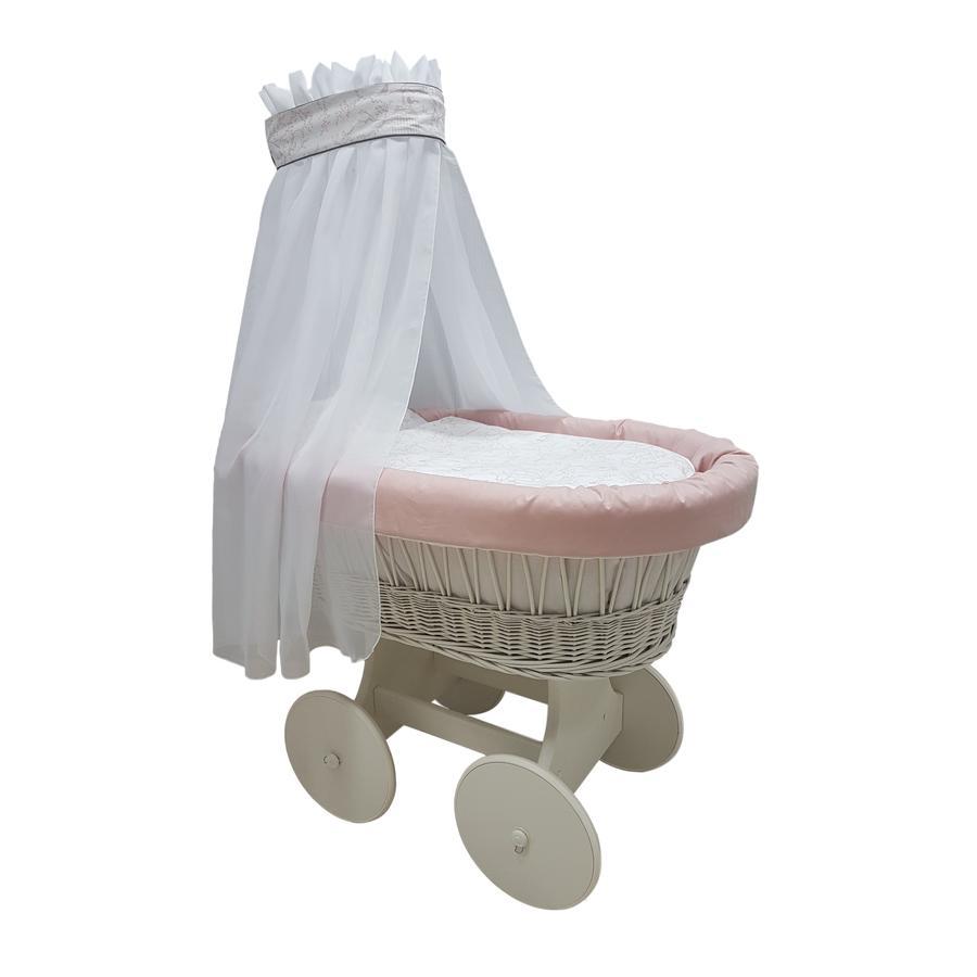 bisal Bollerwagen Komplettset Vögel rosa
