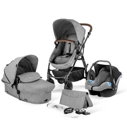 Kinderkraft Carro de bebé combi 3 en 1 Moov Grey Melange