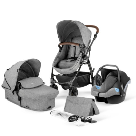 Kinderkraft Combi-pushchair 3 in 1 Moov Grey Melange