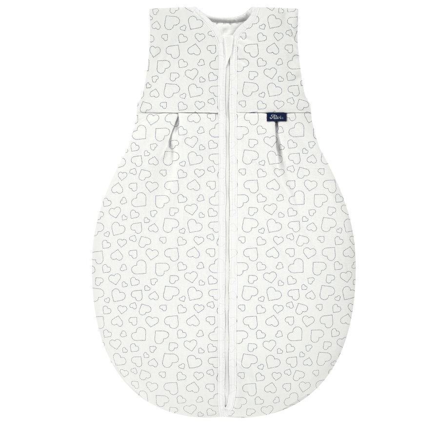 Alvi® Kugelschlafsack - Thermo, Hearts white