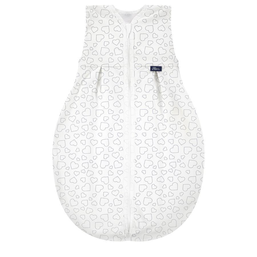 Alvi® Kugelschlafsack Molton - Hearts white