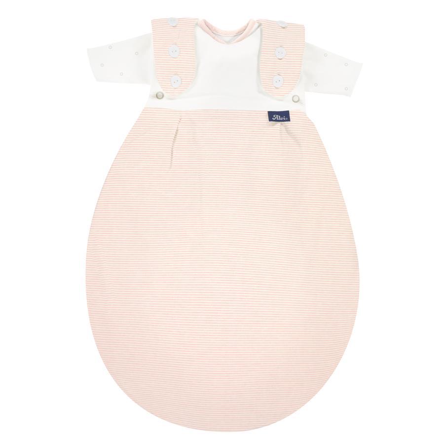 Alvi ® Baby-Maxchen® för tidig sovsäck SuperSoft rose Stripe