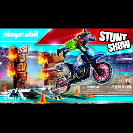 PLAYMOBIL® Pokaz kaskaderski: Motor z płonącą przeszkodą