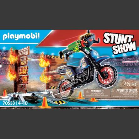PLAYMOBIL  ® Stuntshow motorfiets met firewall