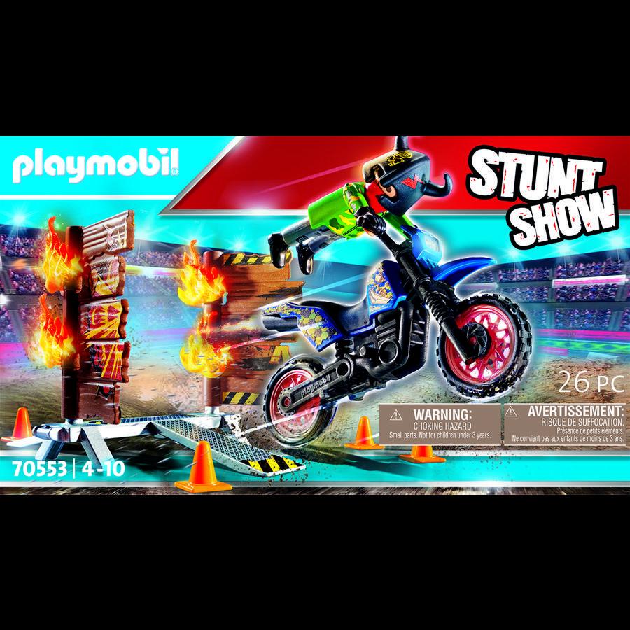 PLAYMOBIL  Moto de cascadeur avec pare-feu